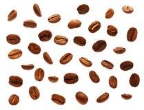 Grão de café preto, feijão imagem de stock royalty free