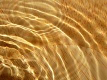Grão de madeira sob a água Fotografia de Stock