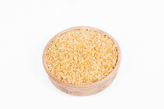 Grão do trigo em um prato Fotografia de Stock