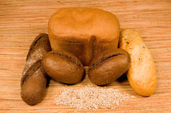 Grão e pão Foto de Stock