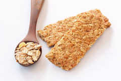 Grão inteira da barra granulada Crunchy fotos de stock royalty free