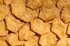 A grão inteira friável orgânica, multigrain cozeu biscoitos como um fundo Mistura inteira da grão: Aveia, farinha do arroz integr Fotografia de Stock Royalty Free