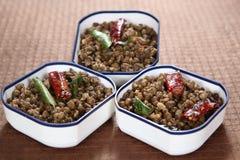 Grãos-de-bico do masala do grama verde, kara do payaru do pachai sundal fotografia de stock