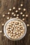 Grãos-de-bico ou feijões crus do grão-de-bico Imagem de Stock
