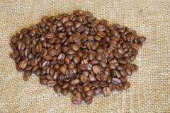 Grãos de café Imagens de Stock
