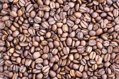Grãos de café no fundo da imagem em um fundo delicadamente claro imagem de stock