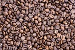 Grãos de café no fundo da imagem em um fundo delicadamente claro foto de stock