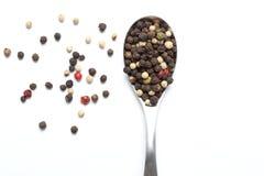 Grãos misturados da pimenta Imagem de Stock