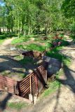 Gräben am Schongebiet-hölzernen Museum auf Hügel 62 Lizenzfreie Stockbilder