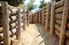 Gräben von Gallipoli, Canakkale, die Türkei lizenzfreies stockfoto