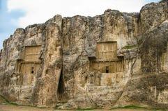 Gräber Achaemenidkönige in Naqsh-e Rustam, Persepolis-Ruine der Iran lizenzfreie stockfotografie