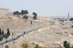 Gräber auf der Montierung der Oliven Stockfoto