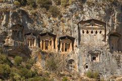 Gräber der alten Lykia Könige Stockbild