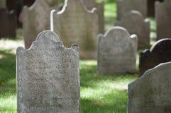 Gräber an der Saint Paul Kapelle, NY, USA Lizenzfreies Stockbild
