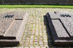 Gräber des deutschen militairy Kirchhofs Pordoi, Italien Stockfoto