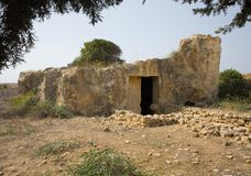 Gräber des Kingfs, Paphos, Zypern Stockfotografie