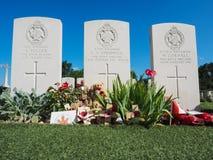 Gräber des Kriegs-WW1 in Europa Stockfotografie