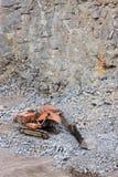 Gräber in einem Steinbruch Stockfotos