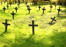 Gräber im Frühjahr Stockfotografie
