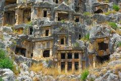 Gräber in Myra Stockbilder