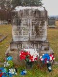 Gräber von Chang und von Eng Bunker in Mt Airy North Carolina lizenzfreies stockbild