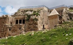 Gräber von Zechariah und von Benei Hezir in Jeru Lizenzfreies Stockfoto