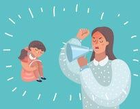 Grälade moder och hennes dotter royaltyfri illustrationer