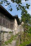 Gränd av den forntida byn Royaltyfri Fotografi