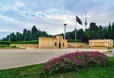Gränd av martyr i Baku Royaltyfri Fotografi
