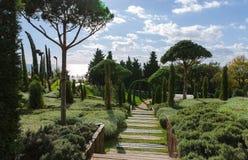 Gränd i botanisk trädgård arkivfoton