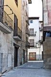 Gränd i Graus, Spanien arkivfoton