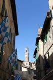 Gränd i Siena - Italien Fotografering för Bildbyråer