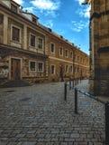 Gränd på den Prague slotten Arkivbilder