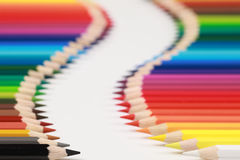 gränden crayons datalistan Royaltyfri Foto