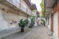 Gränden i Krakow använde som filmset i den Schindlers listan Royaltyfri Fotografi