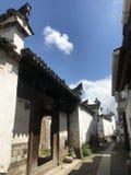 Gränder av kinesisk Huizhou arkitektur royaltyfria foton