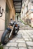 Gränder i Corfu Royaltyfri Fotografi