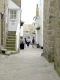 Gränderna, St Ives, Cornwall. Royaltyfri Bild