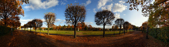 grändpark Royaltyfri Fotografi