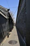 Grändvägarna av Peking Arkivfoto