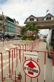 Gränsövergång i Mae Sod Thailand arkivbilder