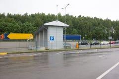 Gränsövergång mellan Vitryssland och Litauen Royaltyfria Foton