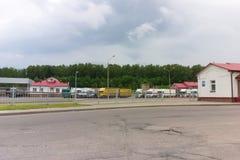 Gränsövergång mellan Vitryssland och Litauen Royaltyfri Foto