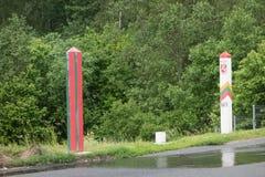Gränsövergång mellan Vitryssland och Litauen Royaltyfria Bilder