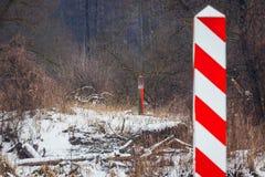 Gräns av Polen och Vitryssland Arkivfoton