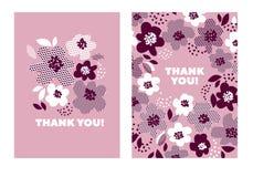 Gräns - blom- modell för rosa färgfärgabstrakt begrepp Royaltyfria Bilder