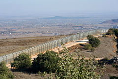 Gräns Israel-Syrien Arkivfoto