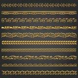 Gräns linjer dekorativ vinageuppsättning arkivfoton