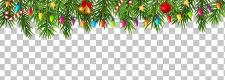Gränsar det nya året för abstrakt ferie och glad jul på genomskinlig bakgrundsvektorillustration stock illustrationer