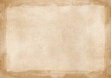 Gränsen för brun grunge för beiga texturerade den retro bakgrund powerpoint w Arkivfoton